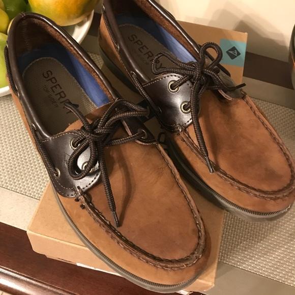 Sperry Shoes   Mens Brown Leeward 2 Eye